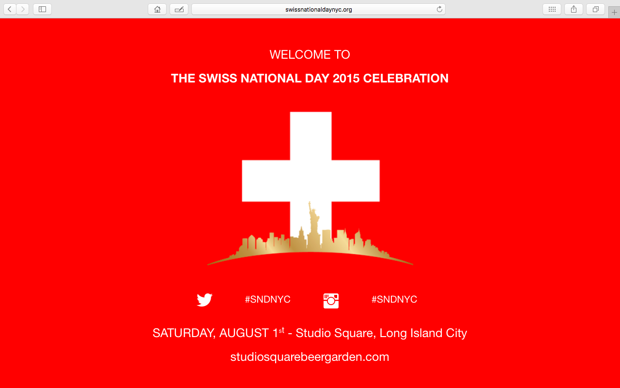 Swiss National Day NYC 2015 website