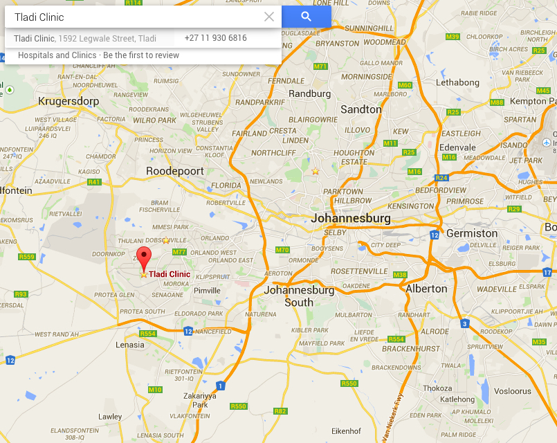 We are located in Tladi, Soweto. About 30 minutes from Joburg Central.