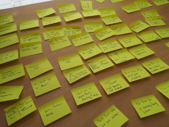 Brainstorming s lepícími papírky