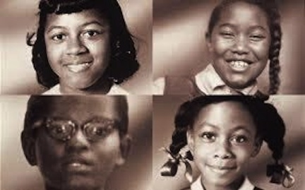 Clockwise from left: Cynthia Wesley, Carole Robertson, Denise McNair, and Addie Mae Collins.