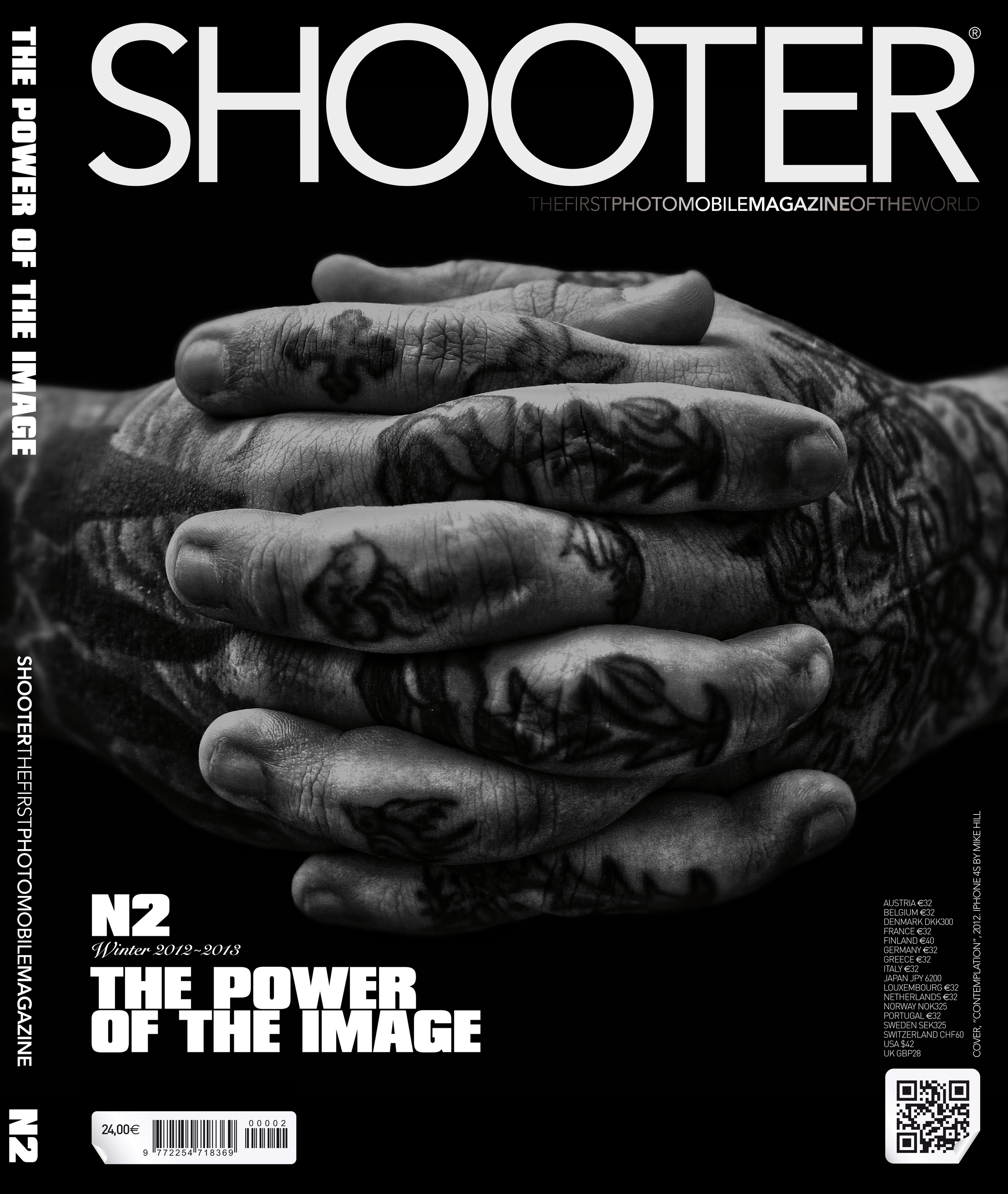 My photo was used for the cover of the second issue of Shooter Photo Mobile Magazine (International) and some of my photos were featured inside. Use this link to subscribe to Shooter.