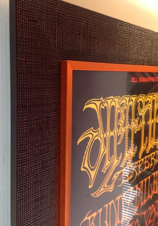 Jimi Hendrex, framed Concert Poster