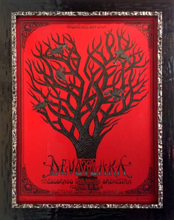 Devotchka Concert Poster Framed in two stacked frames