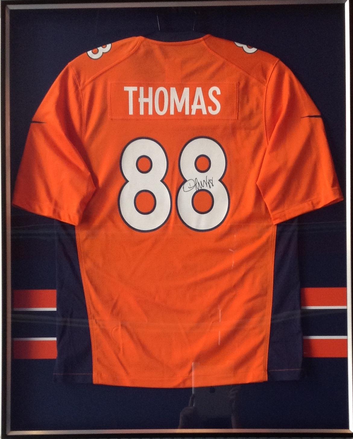 Demarius Thomas jersey with custom mat stripes