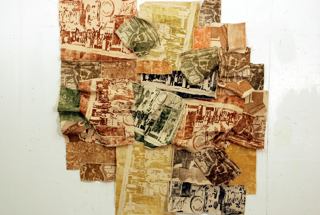 Installation, Intaglio Etchings on Canvas