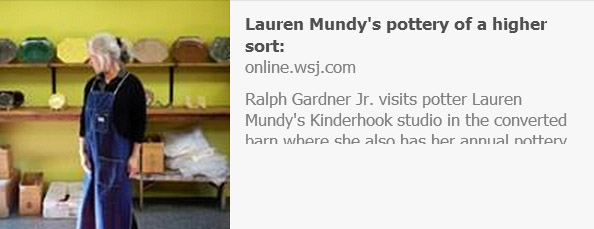 Ralph Gardner Jr. on Lauren Mundy's Slip-Decorated Redware   Photo: Richard Beaven for The Wall Street Journal