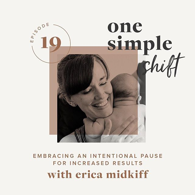 〰️ Intentional pause 〰️ ⠀⠀⠀⠀⠀⠀⠀⠀⠀ A few weeks ago, I spent some time talking to my friend Amanda Dennelly about the idea of the intentional pause. You can listen to our conversation using the link in my profile. ⠀⠀⠀⠀⠀⠀⠀⠀⠀ — ⠀⠀⠀⠀⠀⠀⠀⠀⠀ Here's what I'm noticing. It's easy these days, in our world of ever-present connection, to live in constant motion. To embrace the intentional pause is to be mindful about: ⠀⠀⠀⠀⠀⠀⠀⠀⠀ 〰️ Setting aside intentional time for quiet ⠀⠀⠀⠀⠀⠀⠀⠀⠀ 〰️ Regularly checking in and making meaningful decisions rather than living by default ⠀⠀⠀⠀⠀⠀⠀⠀⠀ 〰️ Inviting space into the ordinary moments of our days. ⠀⠀⠀⠀⠀⠀⠀⠀⠀ — ⠀⠀⠀⠀⠀⠀⠀⠀⠀ These are things I am still working on. I suspect that I'll always be working on them. But it was a true joy to pull together my thoughts to share with you on Amanda's podcast, One Simple Shift (there's a link to listen in my profile). I also created a free guide you can download that will help you identify ways you could experiment with the intentional pause in your own everyday life. ⠀⠀⠀⠀⠀⠀⠀⠀⠀ — ⠀⠀⠀⠀⠀⠀⠀⠀⠀ I want to note here that the ability to pause in some or all of these ways is a privilege. This truth is very much a part of my ongoing thinking and planning around the work I'm doing, the ideas I'm learning about and sharing, and more. ⠀⠀⠀⠀⠀⠀⠀⠀⠀ — ⠀⠀⠀⠀⠀⠀⠀⠀⠀ Image by @mary_margaret_smith ⠀⠀⠀⠀⠀⠀⠀⠀⠀ ⠀⠀⠀⠀⠀⠀⠀⠀⠀ — ⠀⠀⠀⠀⠀⠀⠀⠀⠀ [image description: Close up of woman with eyes closed, smiling, holding a baby. The image says: One Simple Shift, Episode 19, Embracing an Intentional Pause for Increased Results with Erica Midkiff]