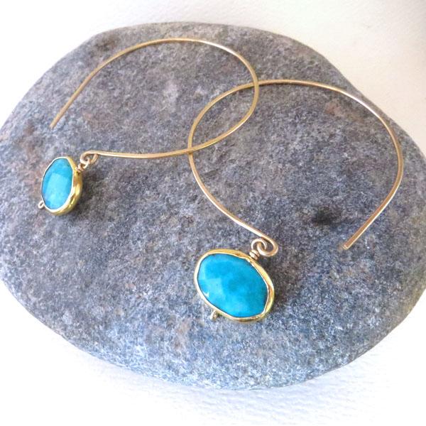 Turquoise Kelly Hoop Earrings, 2013