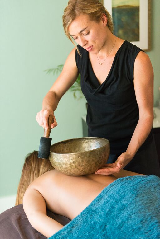 Copy of Sound healing using a singing bowl