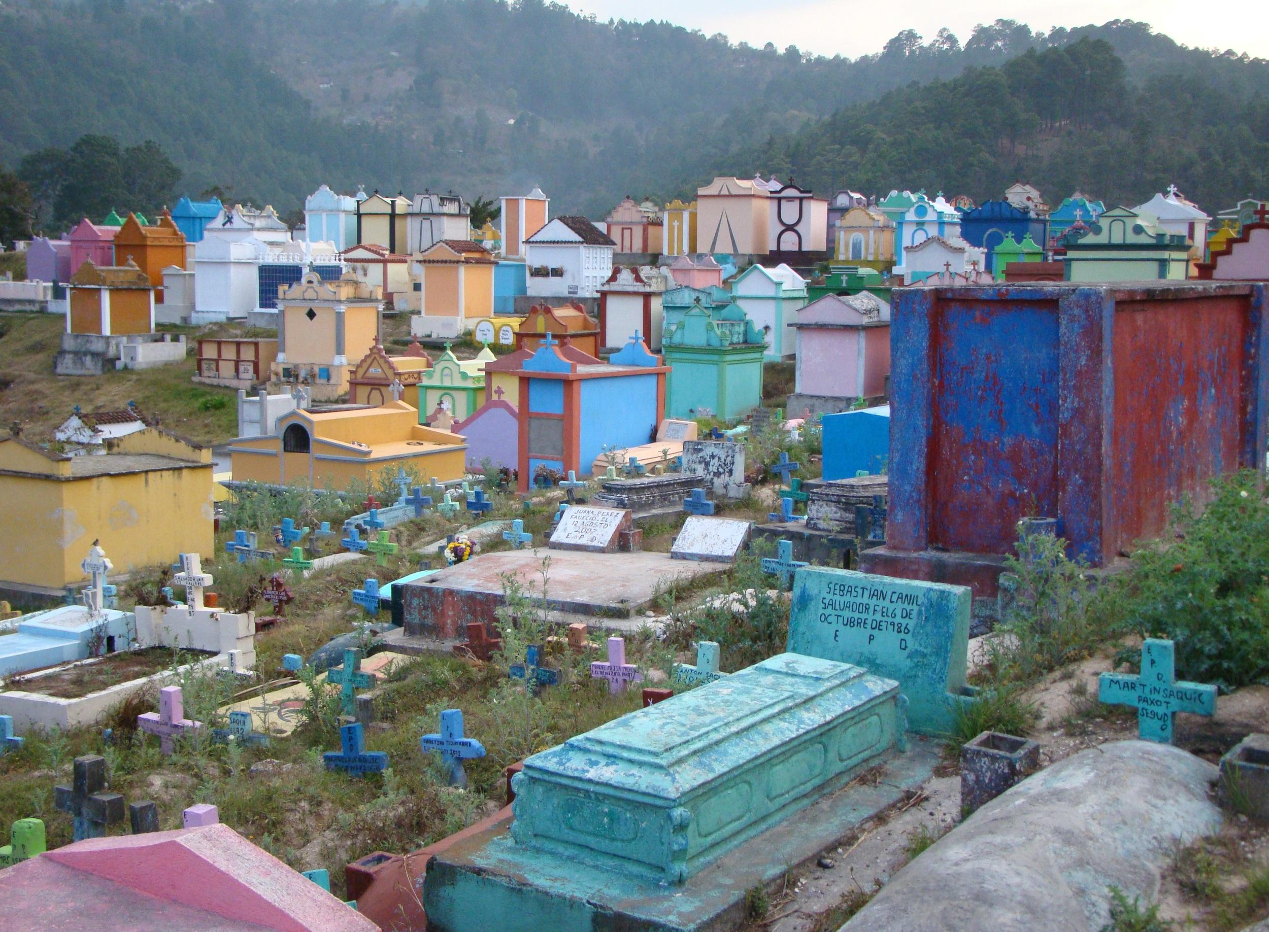 Cemetery in Chichicastenango, Guatemala. 2014.