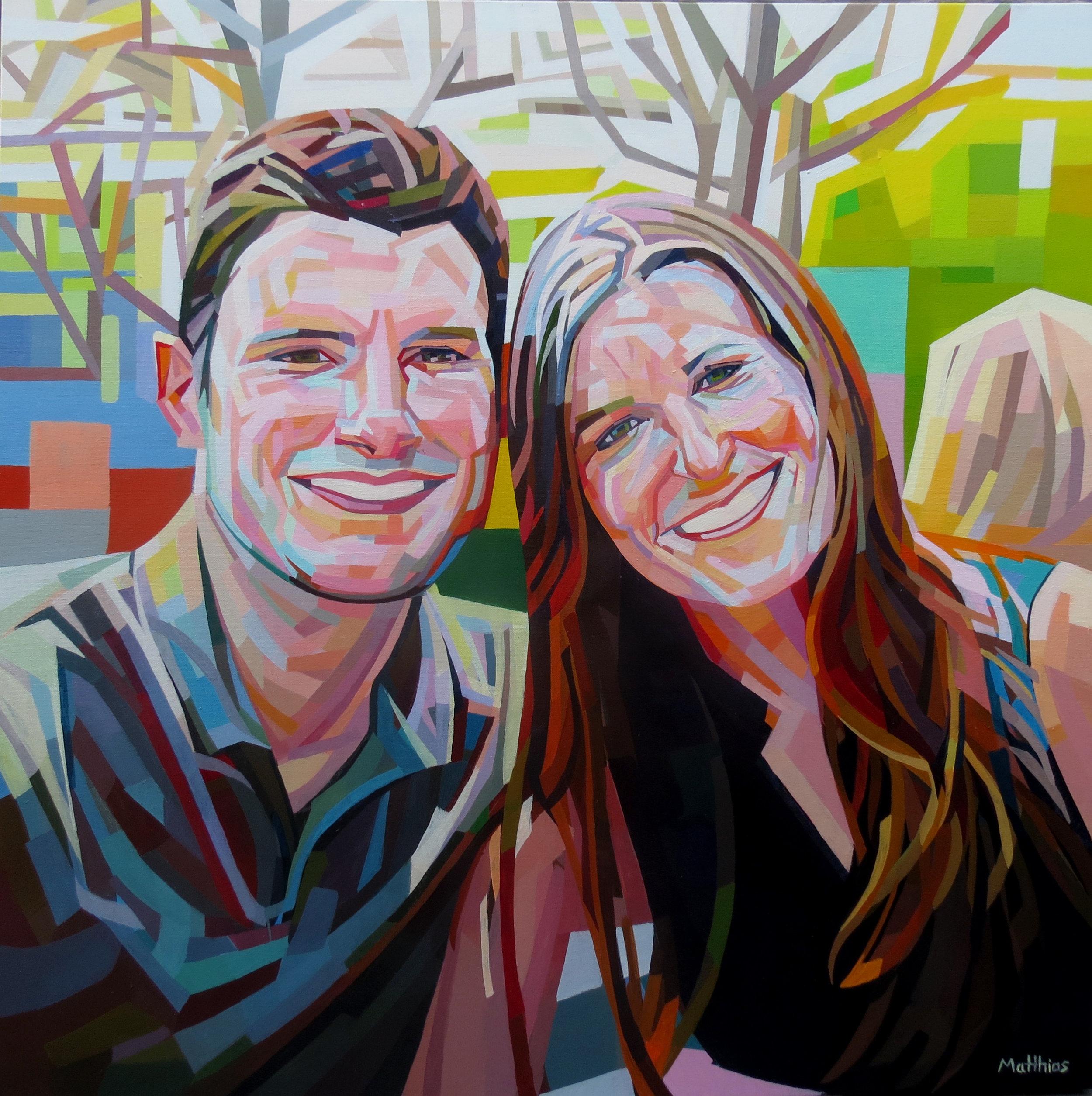 Will & Heather 36x36