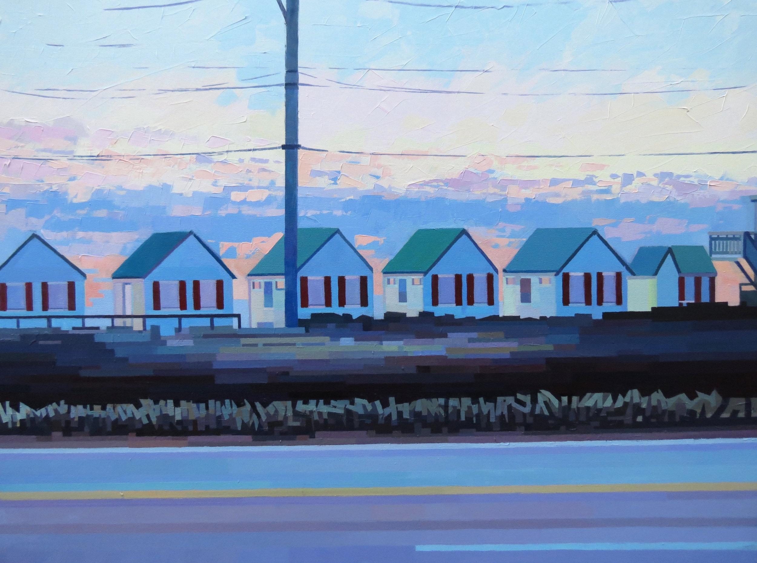 White Village Cottages 40w30h sold