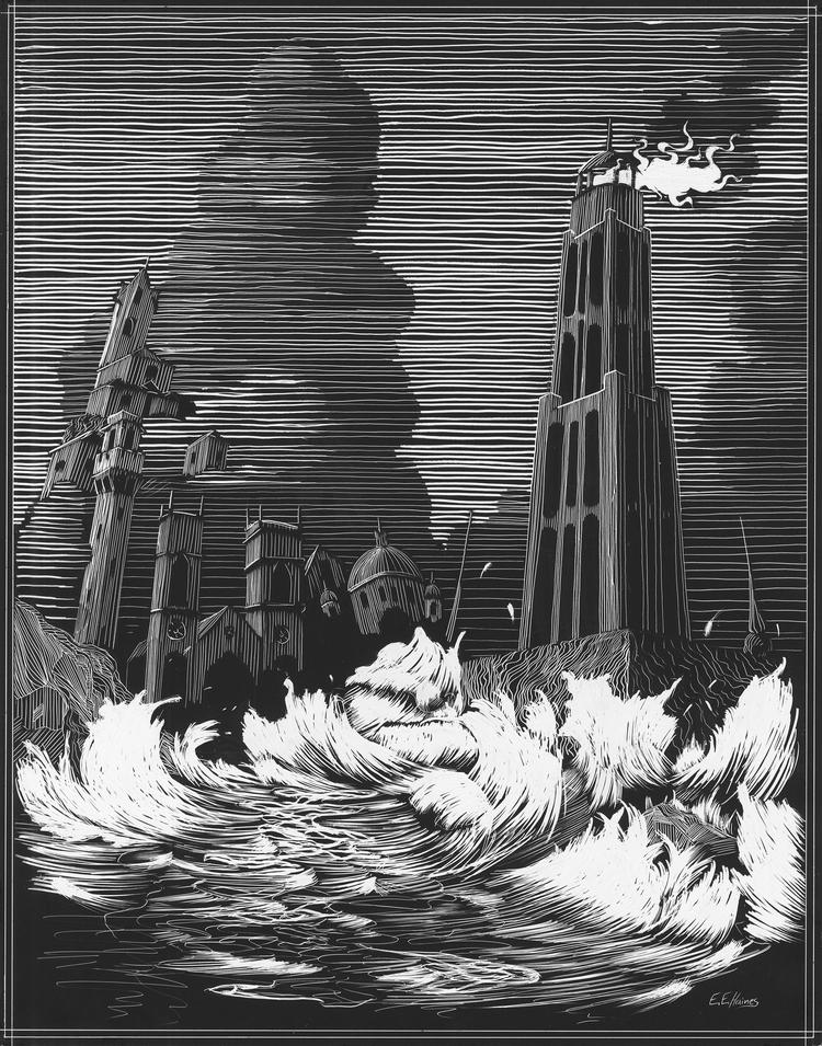 City in the Sea Scratchboard.jpg