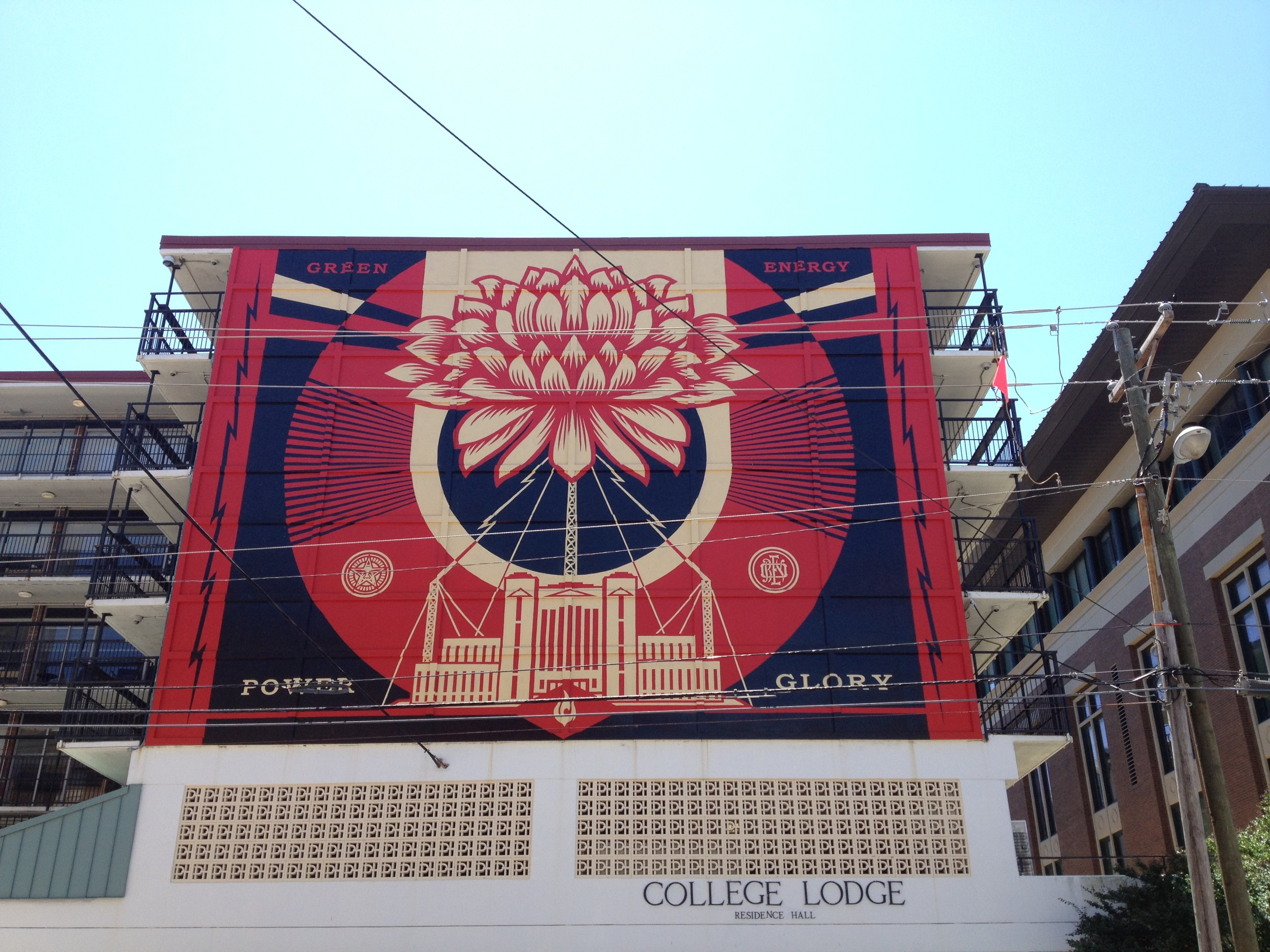 Power and Glory mural