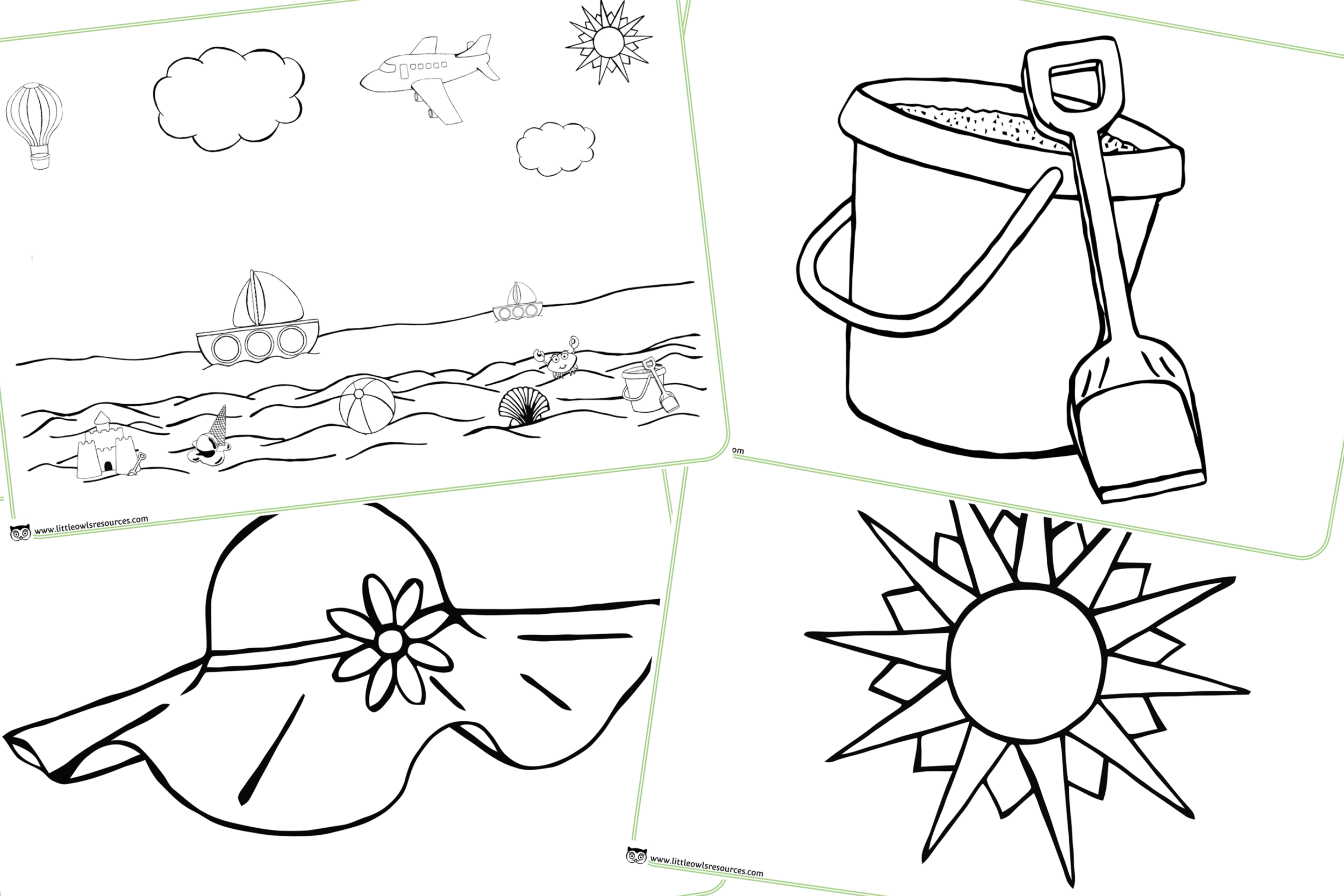 Summer Season/Weather/Beach Colouring Pages/Activity
