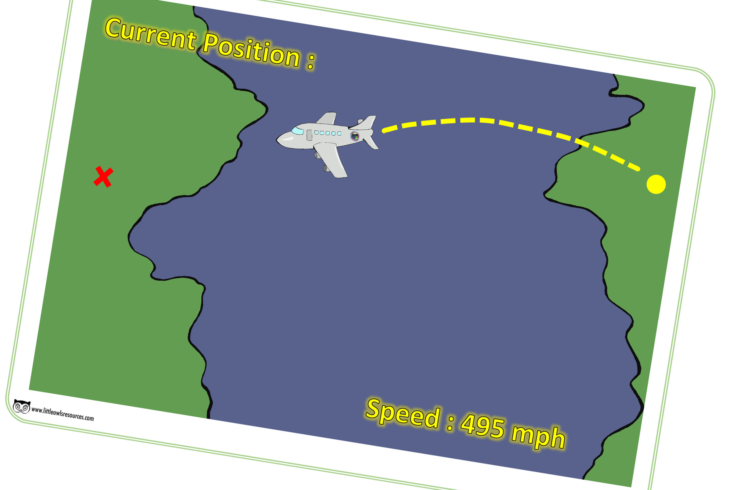 Aeroplane Position Poster Role-Play Prompt