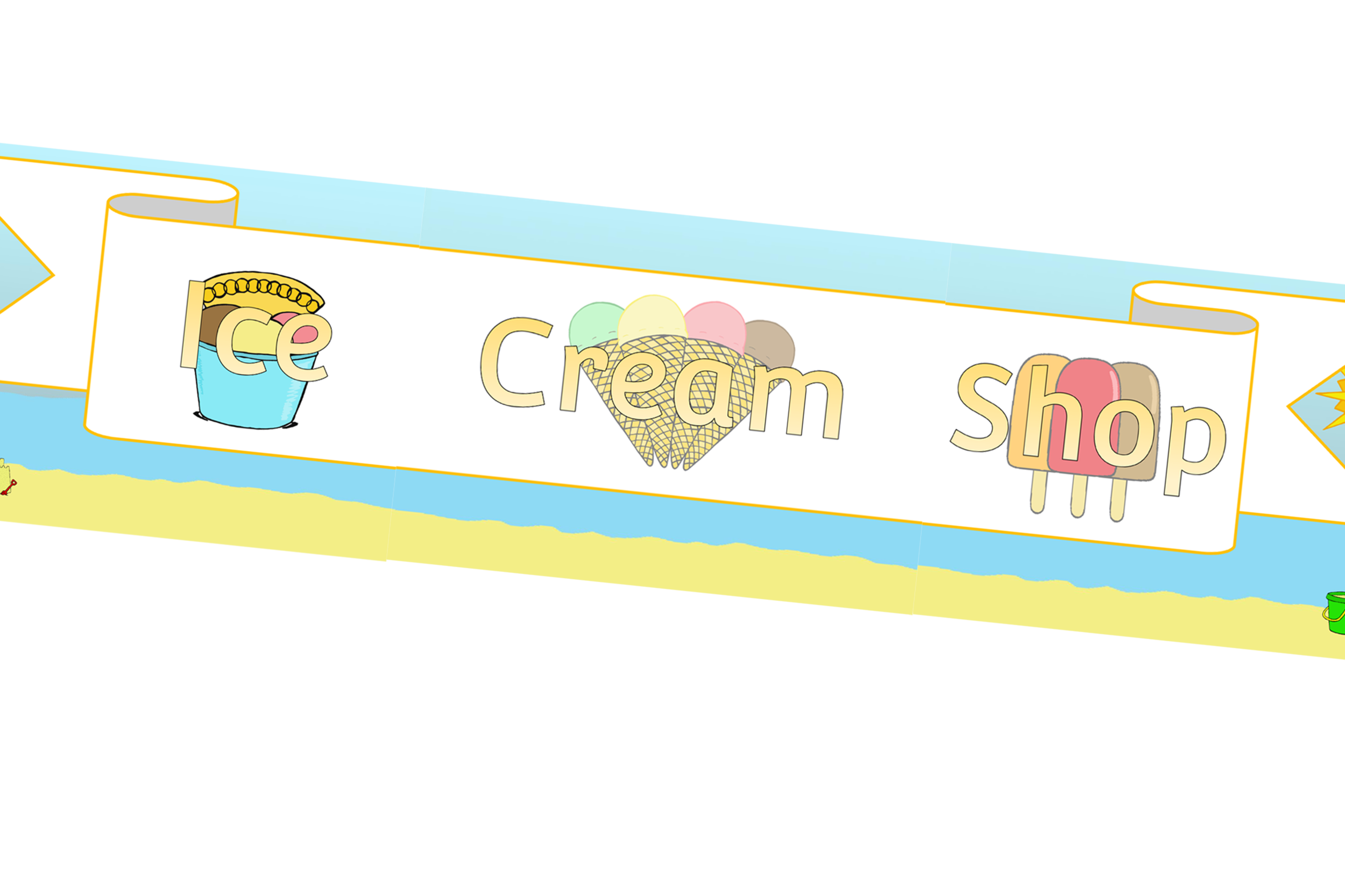 Ice Cream Shop Role-Play Area Banner