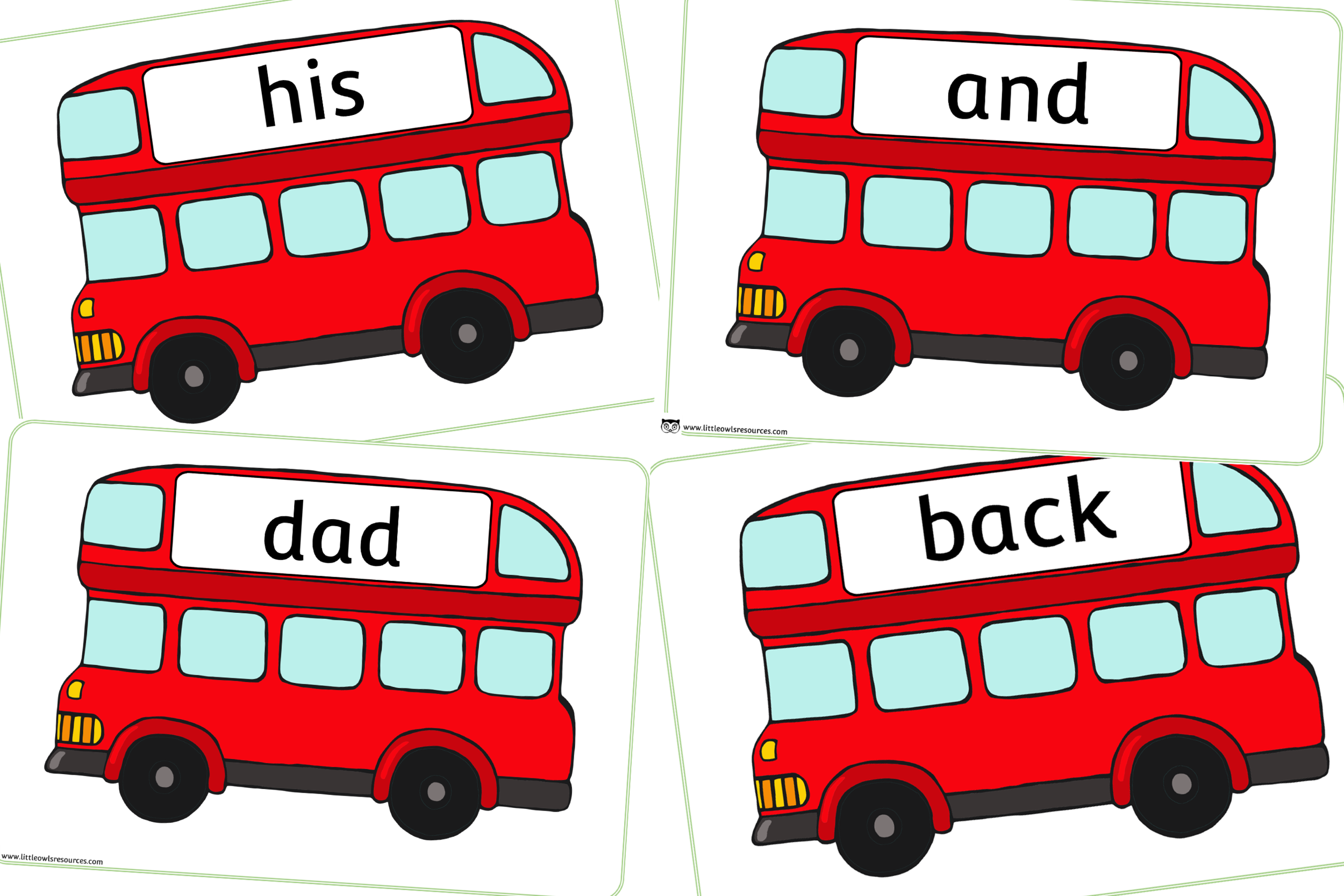 PHASE 2 WORDS - BUS