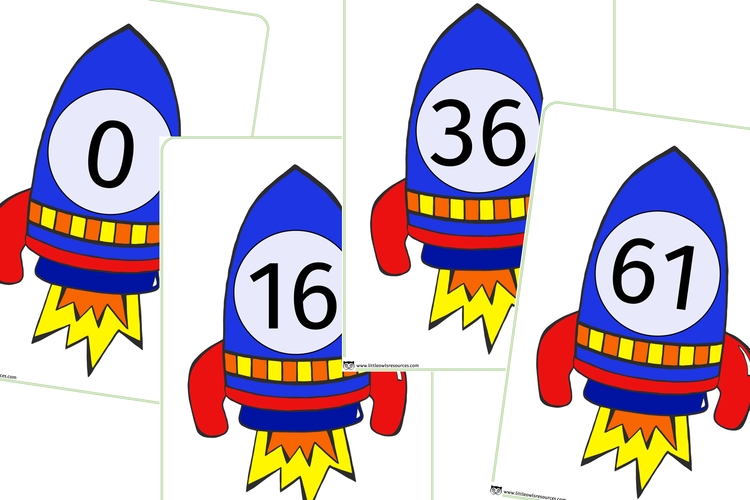 ROCKET NUMBERS 0-100