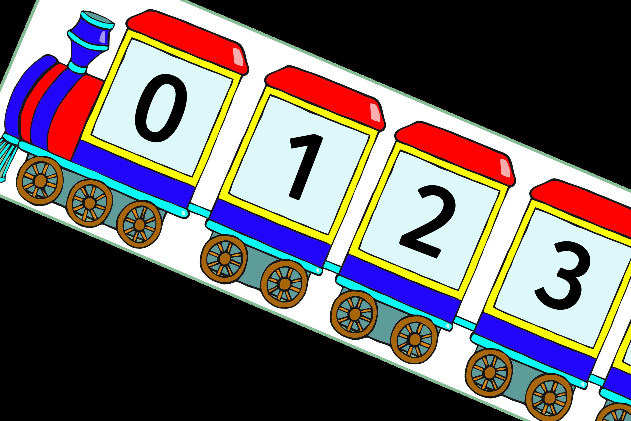 STEAM TRAIN NUMBERS 0-100