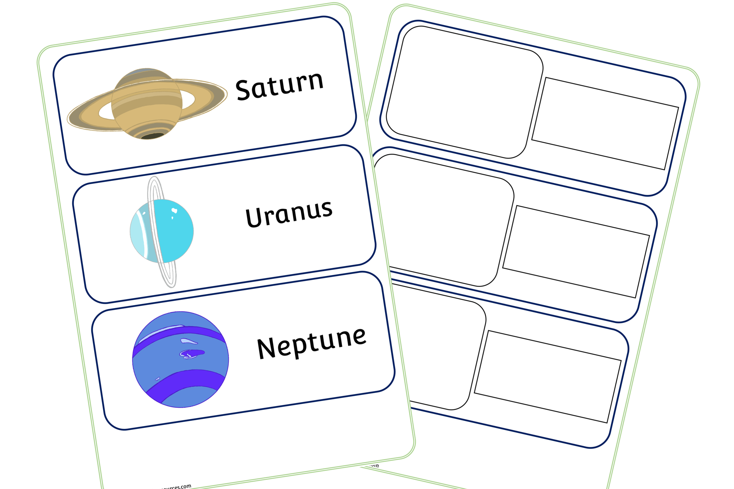 Space (Planet) Word Cards