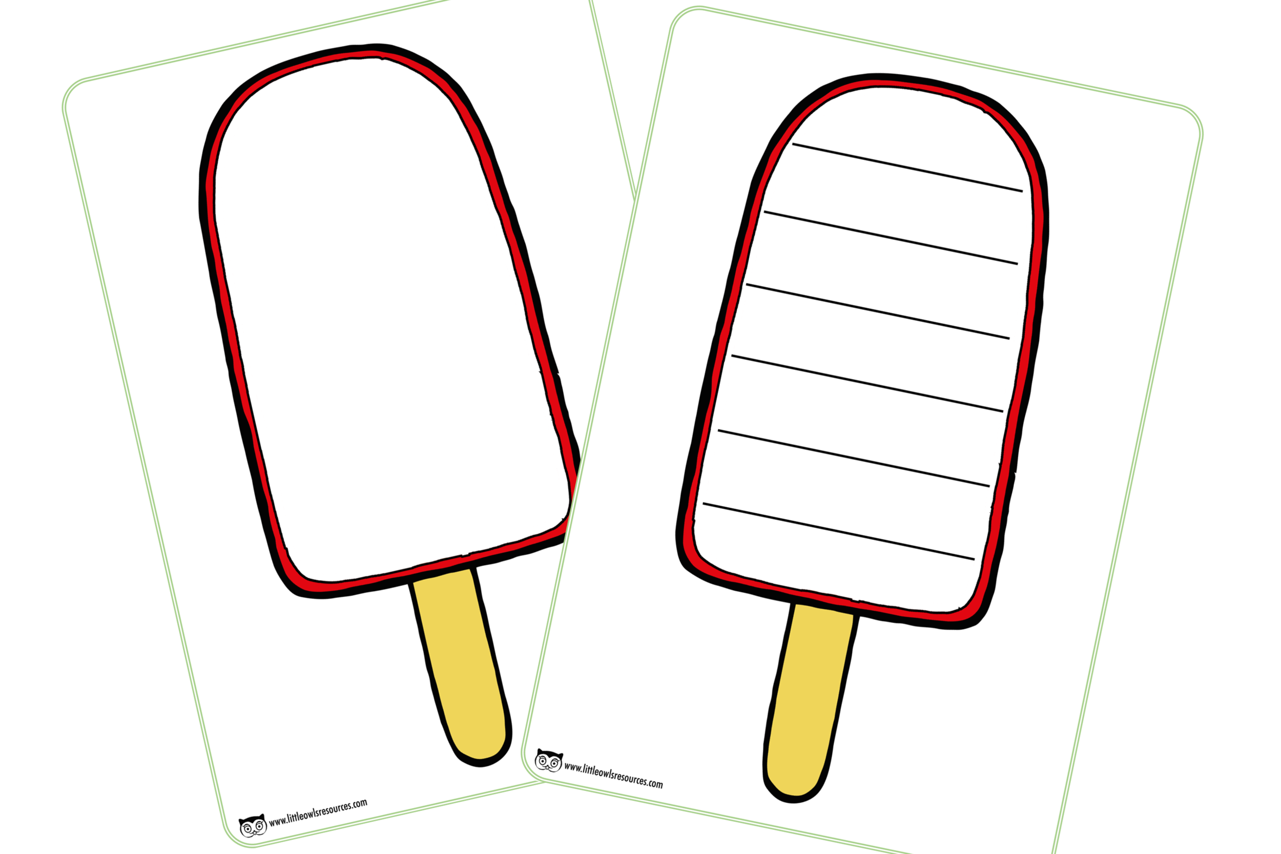 Ice Lolly Writing