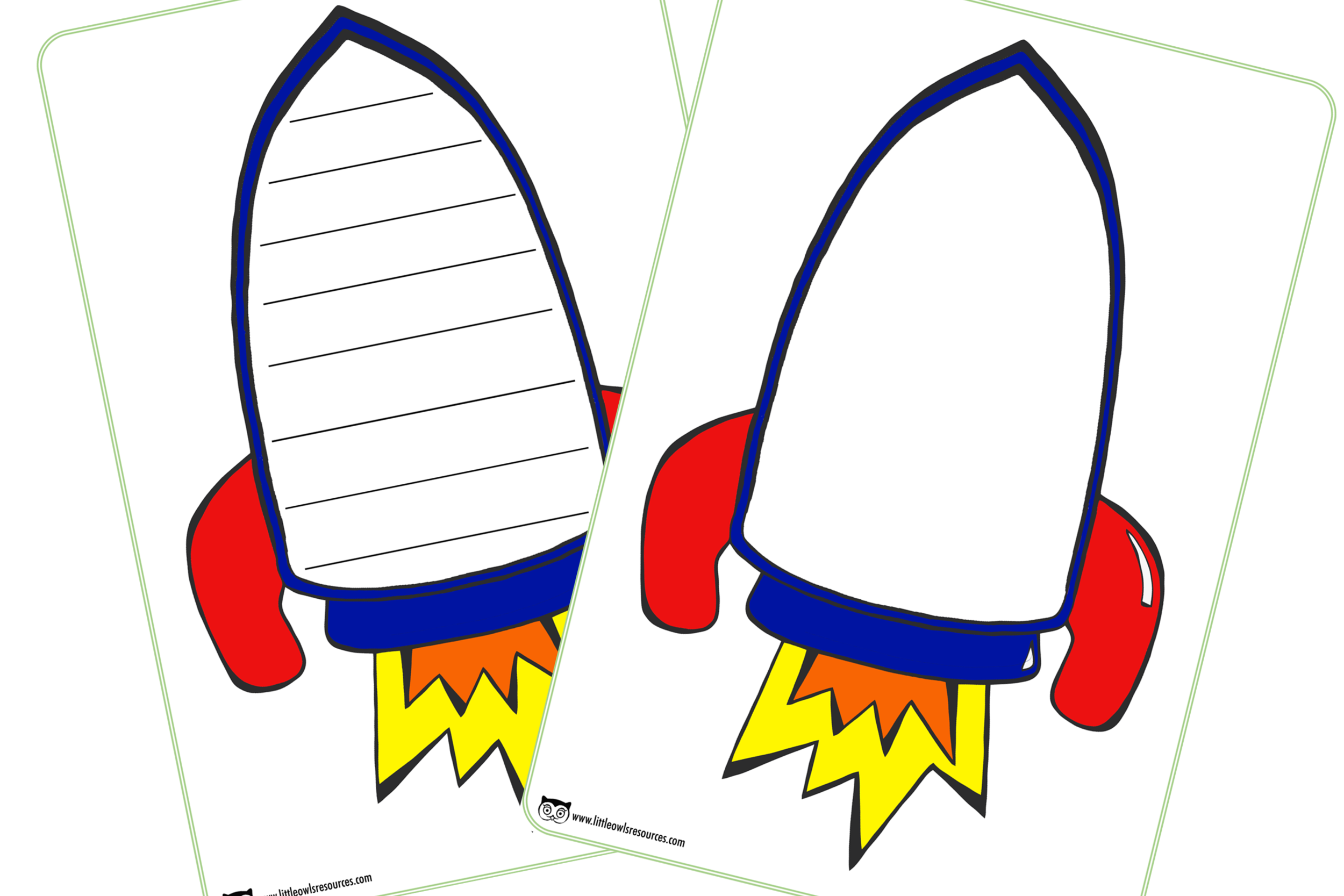 graphic about Rocket Printable identified as Totally free Rocket/Region Composing Template Early Yrs (EYFS