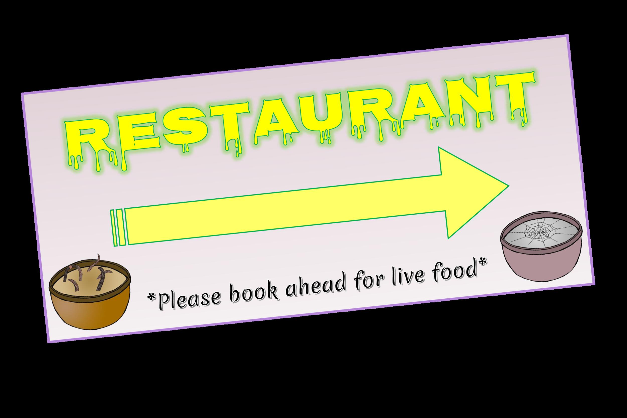 SPOOKY HALLOWEEN HOTEL RESTAURANT SIGN