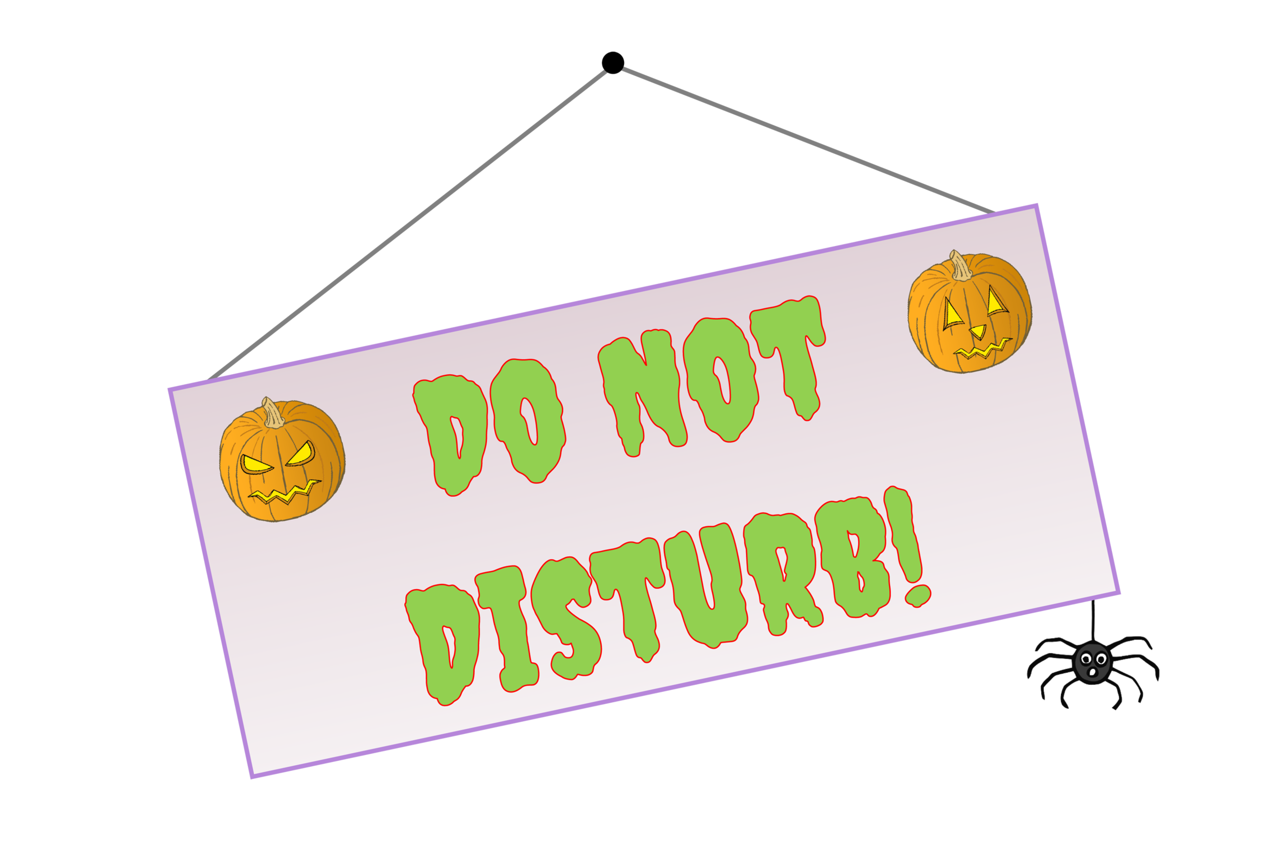 graphic about Do Not Disturb Sign Printable called Free of charge Spooky Halloween Lodge Do Not Disturb position-enjoy Indicator