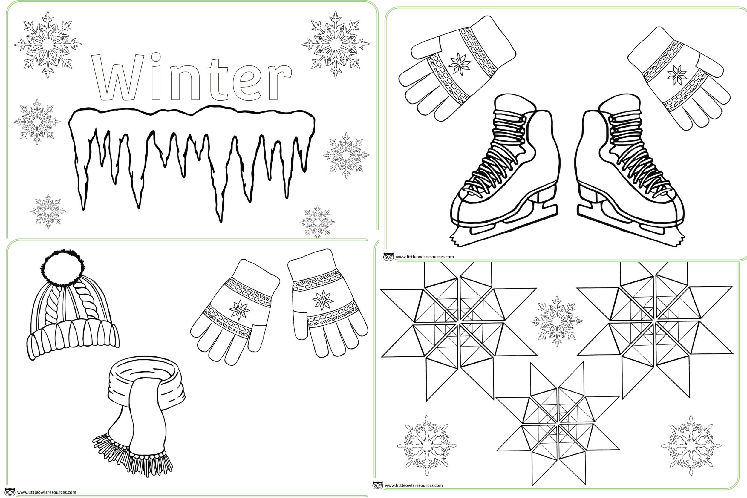 Winter Colouring Sheets/Pages