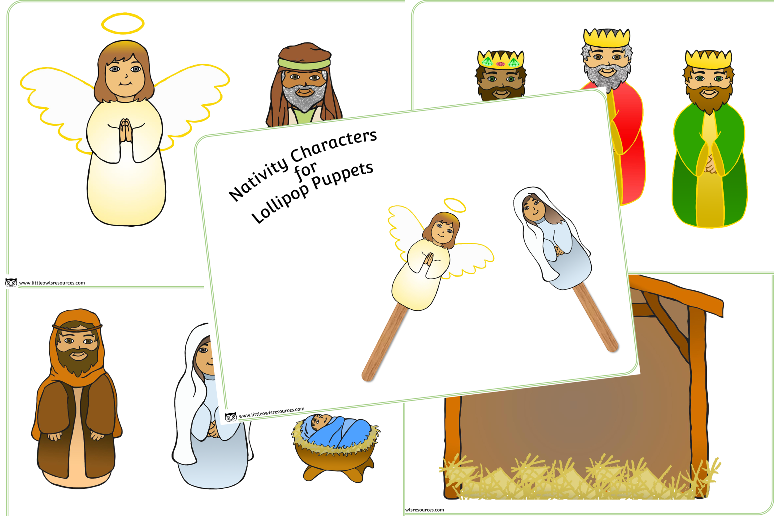 Nativity Lollipop Puppets