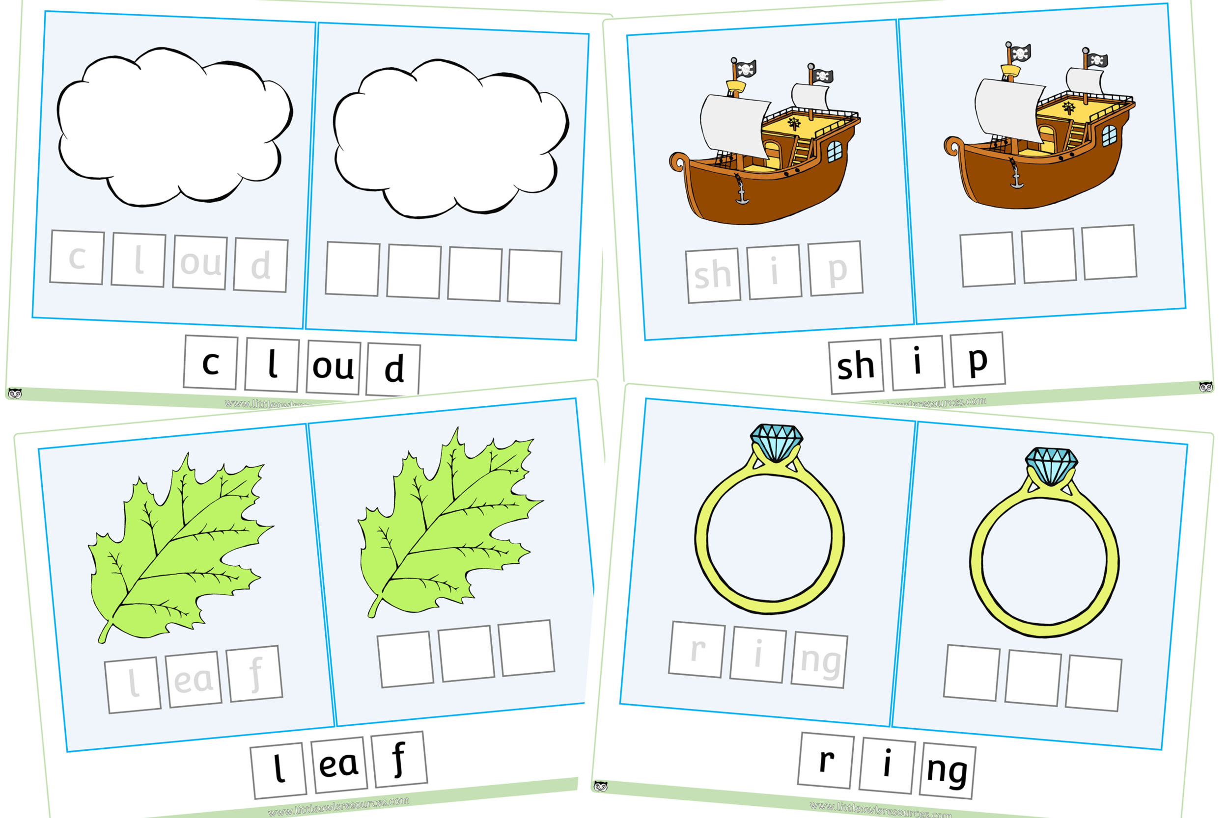 picture regarding Word Game Printable titled No cost CVC Digraph Activity printable Early A long time/EY (EYFS