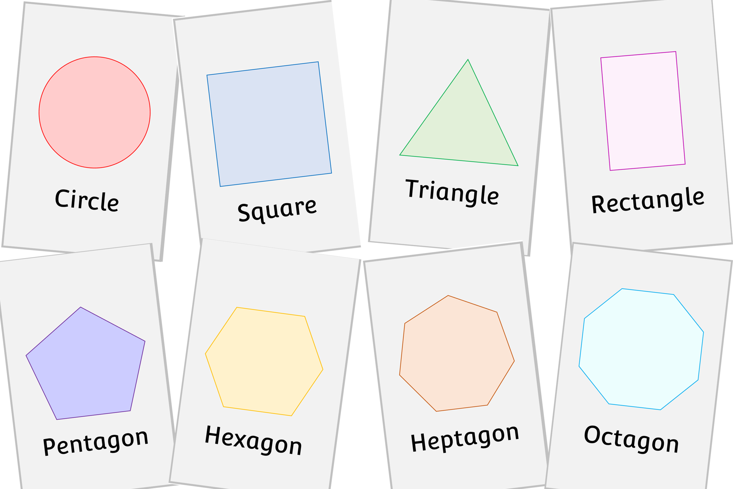 2D SHAPE SNAP GAME CARDS/FLASHCARDS