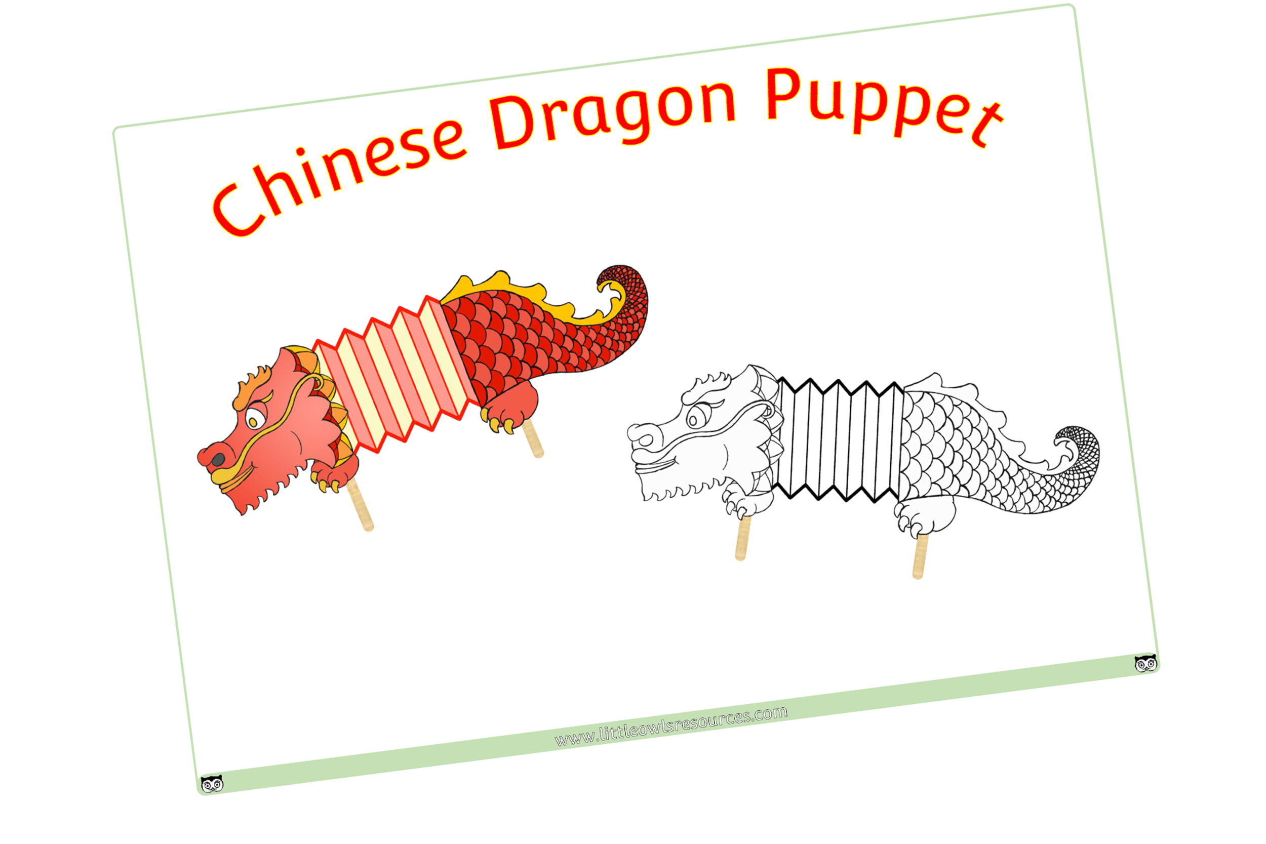 CHINESE DRAGON PUPPET