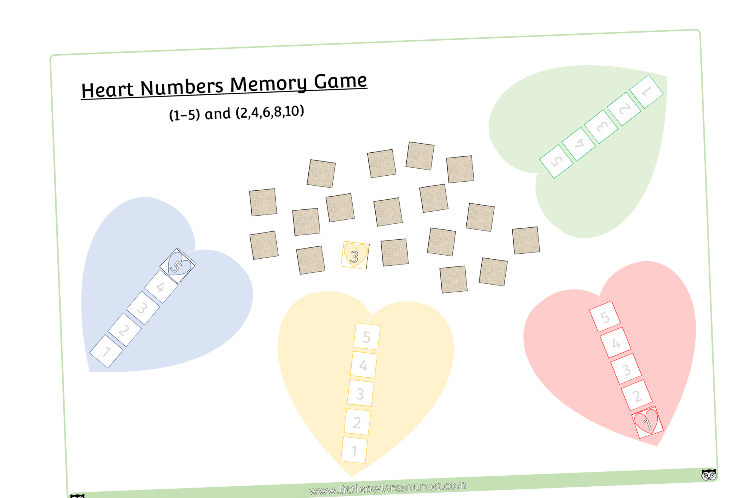 HEART NUMBERS GAME - TURN TAKING