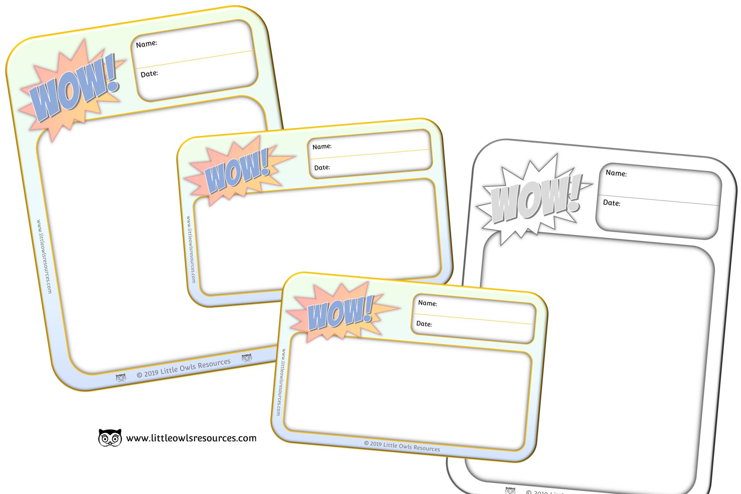 FREE Wow Moment Sheets printable Early Years/EY (EYFS