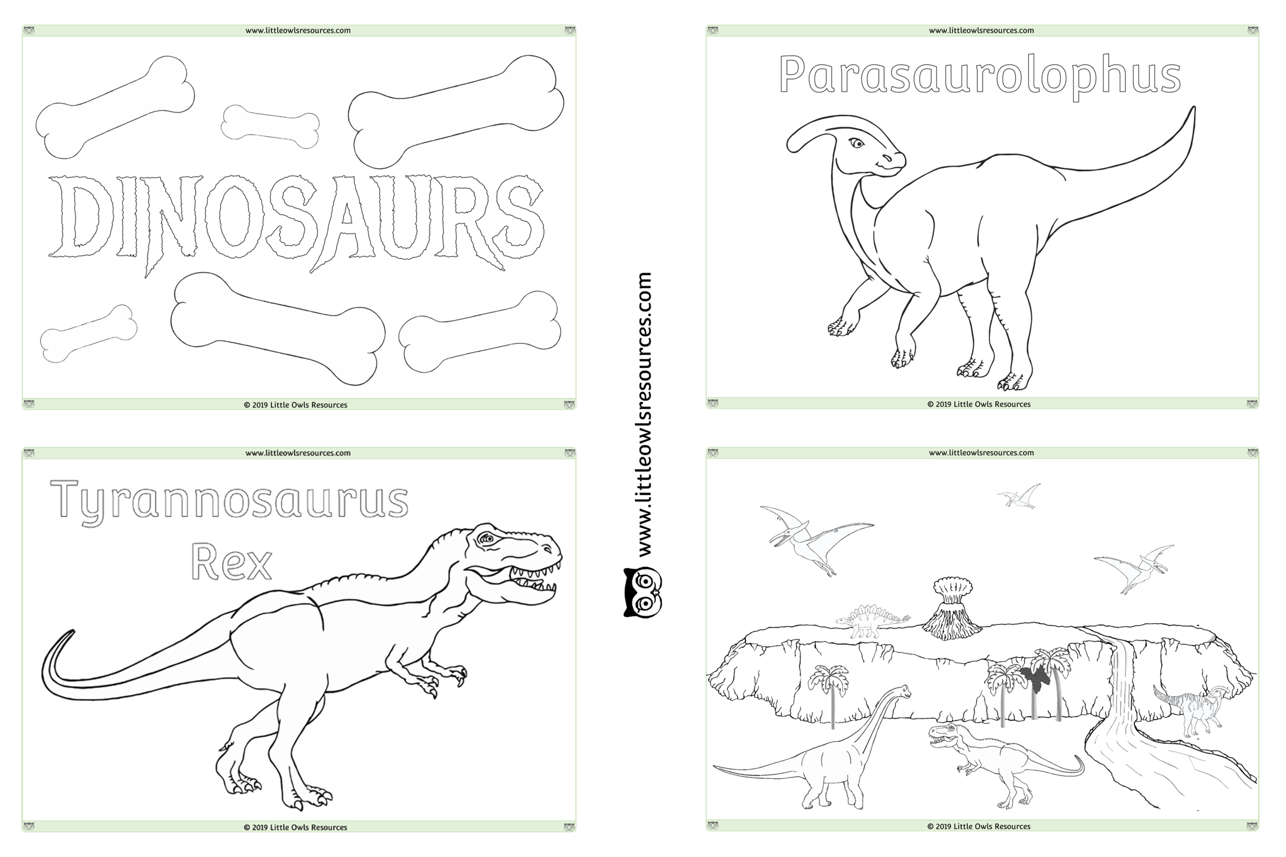 Free Dinosaur Colouring Printable Early Years Ey Eyfs Resource Download Little Owls Resources Free