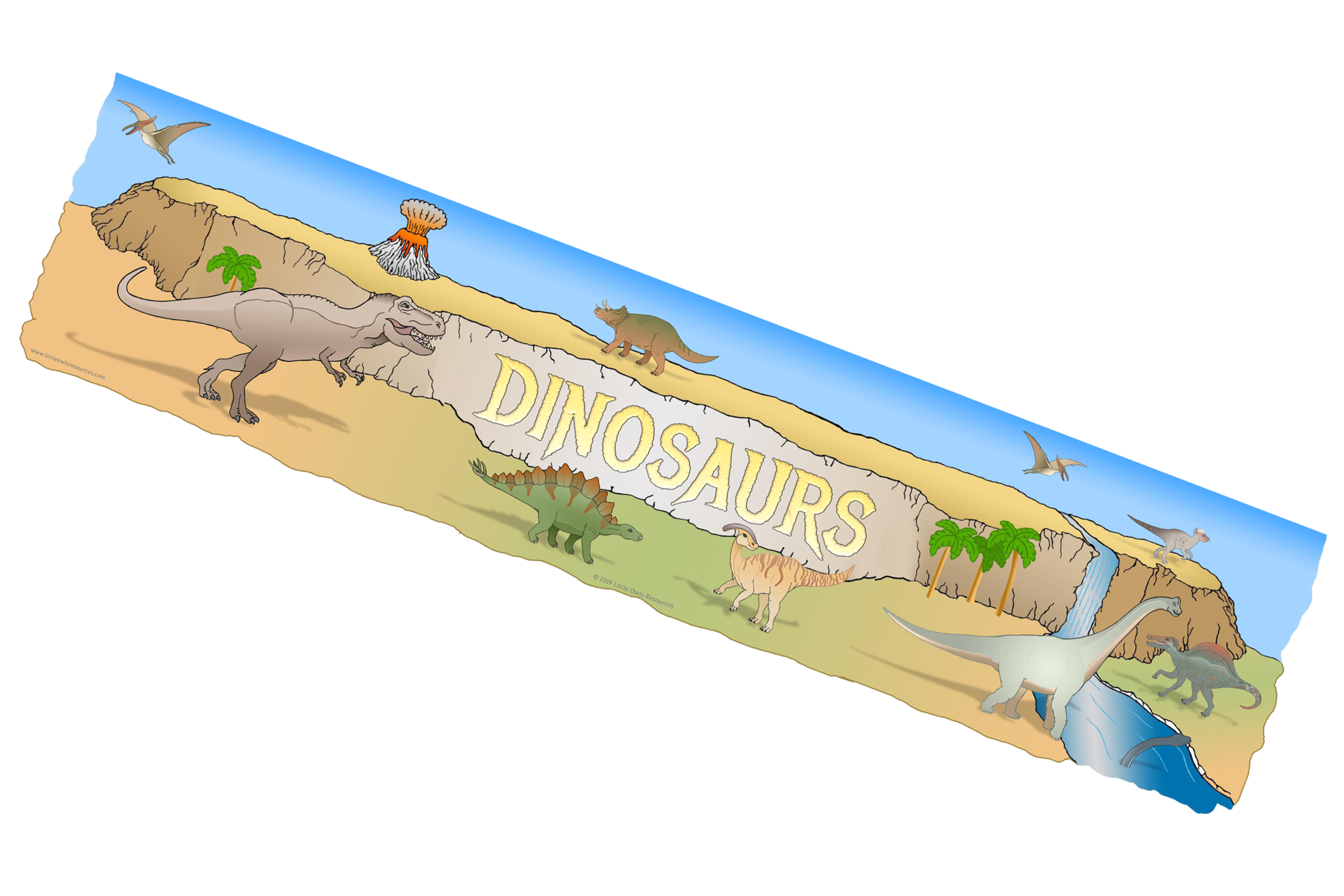 'Dinosaurs' Display Banner