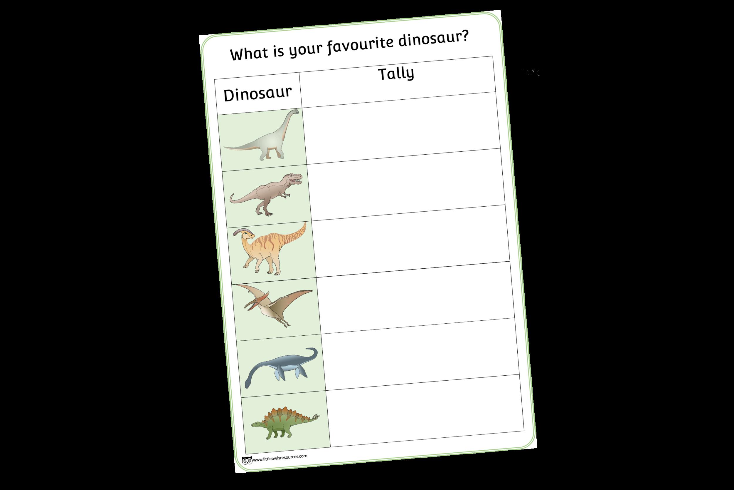 Dinosaur Tally Chart/Check List