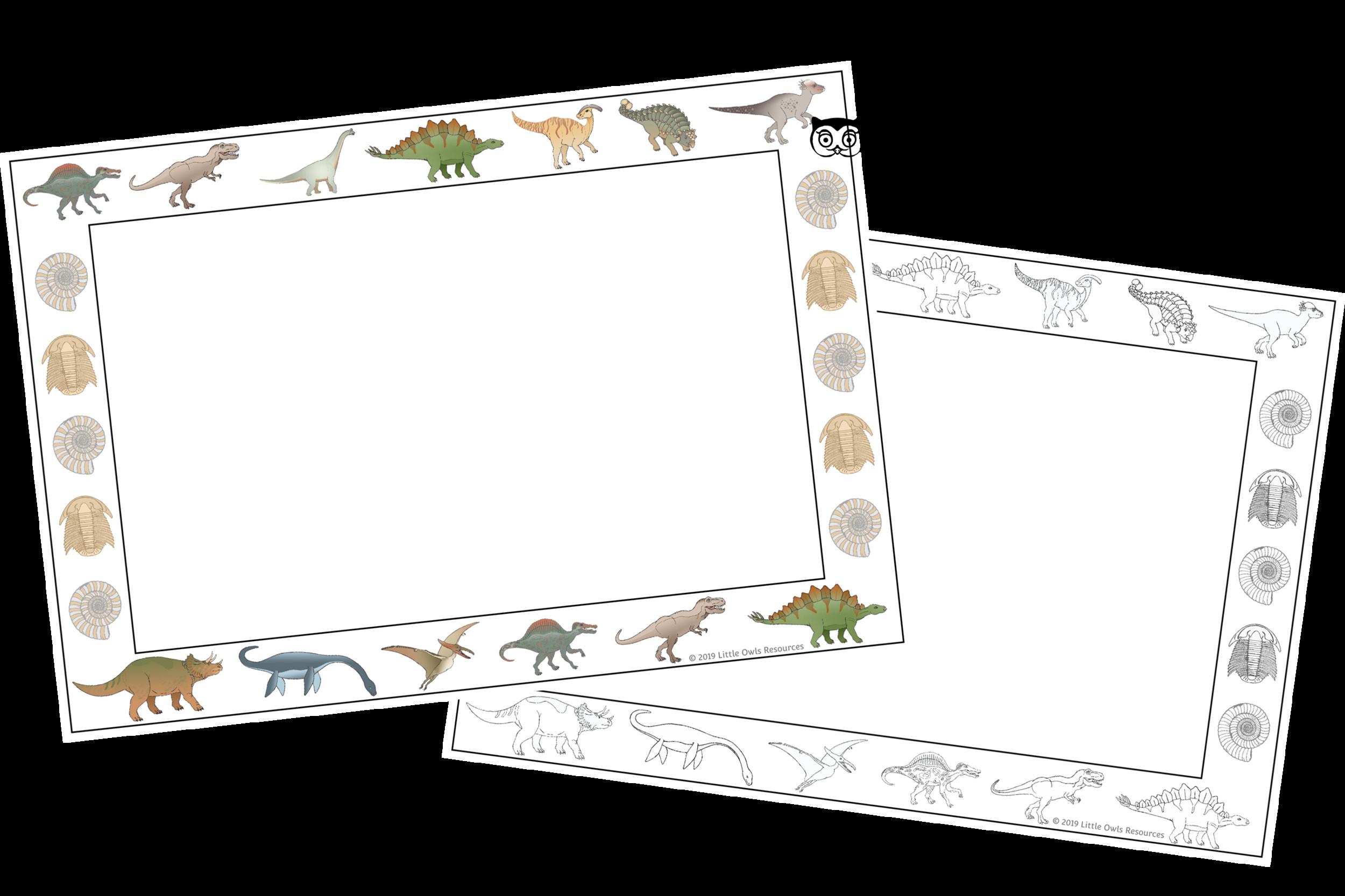 Dinosaur Border Sheets