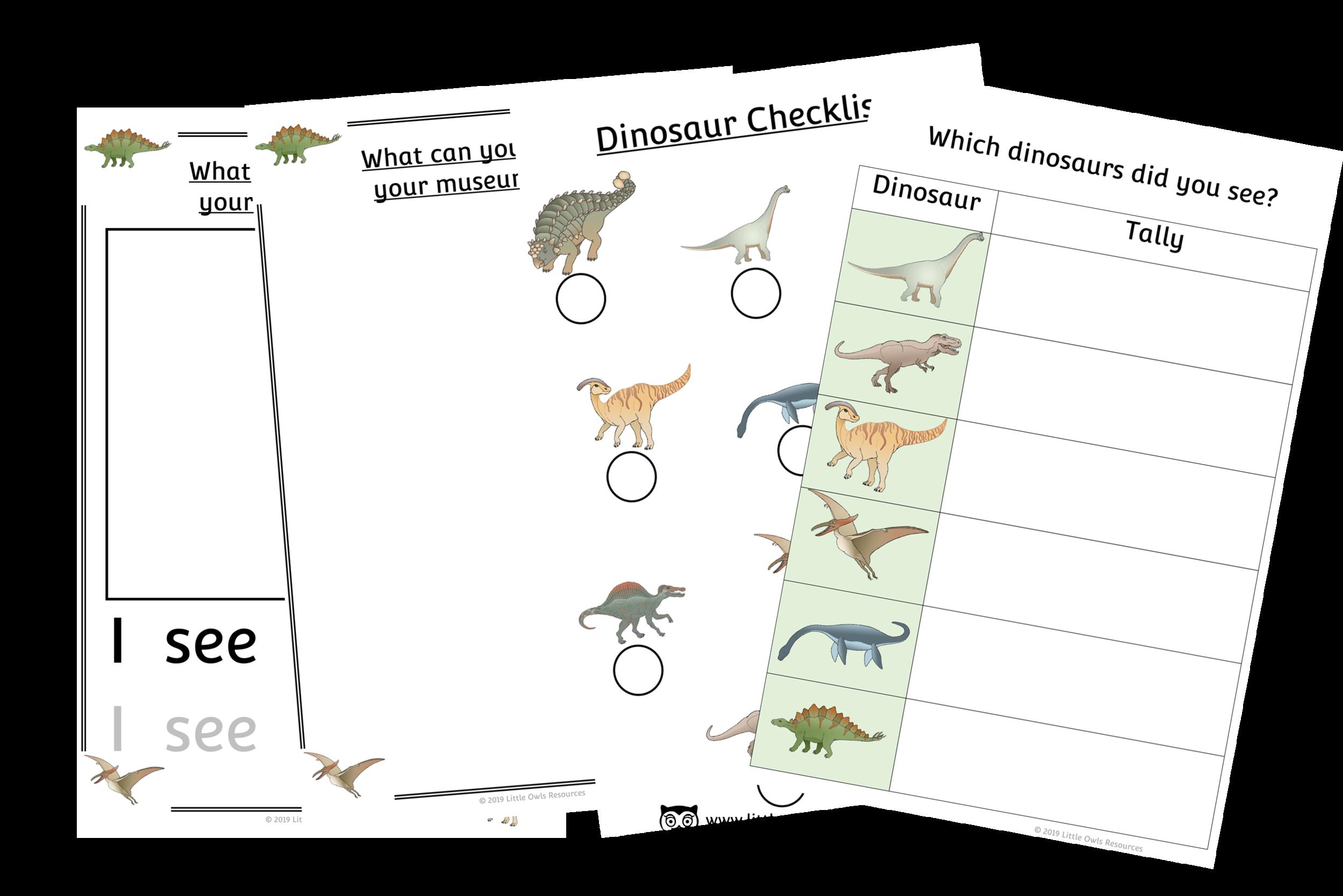 Dinosaur Museum Trip Pack