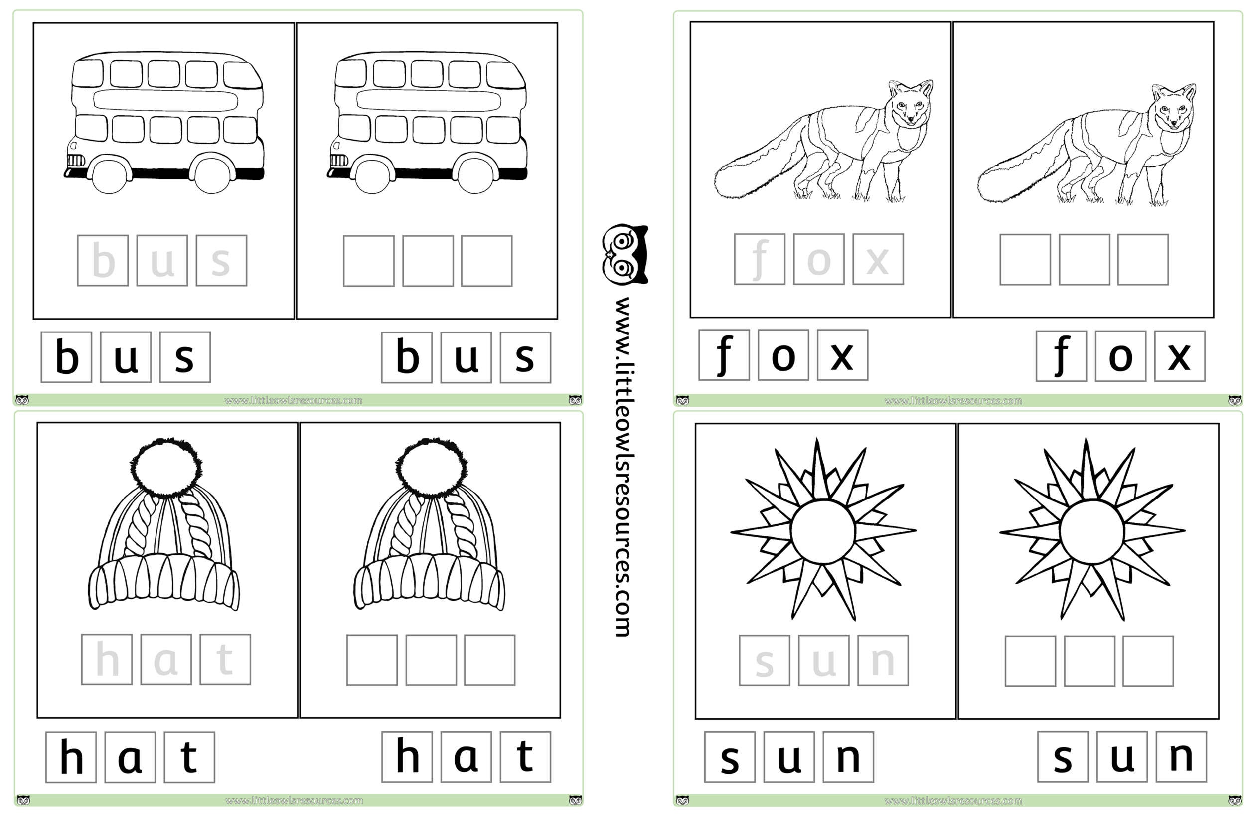 FREE CVC Game Colouring printable Early Years/EY EYFS resource ...