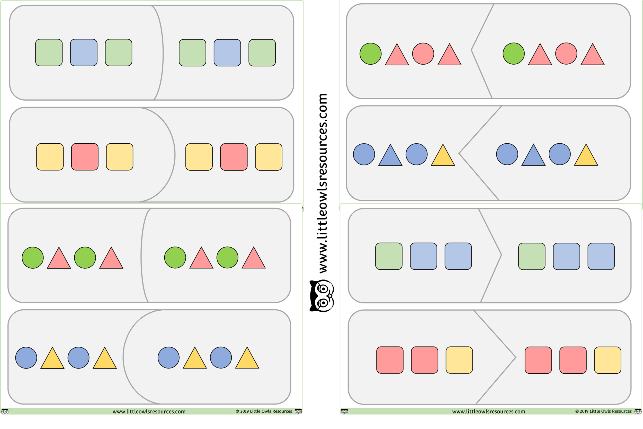 Pattern Matching Puzzles/Cards Game