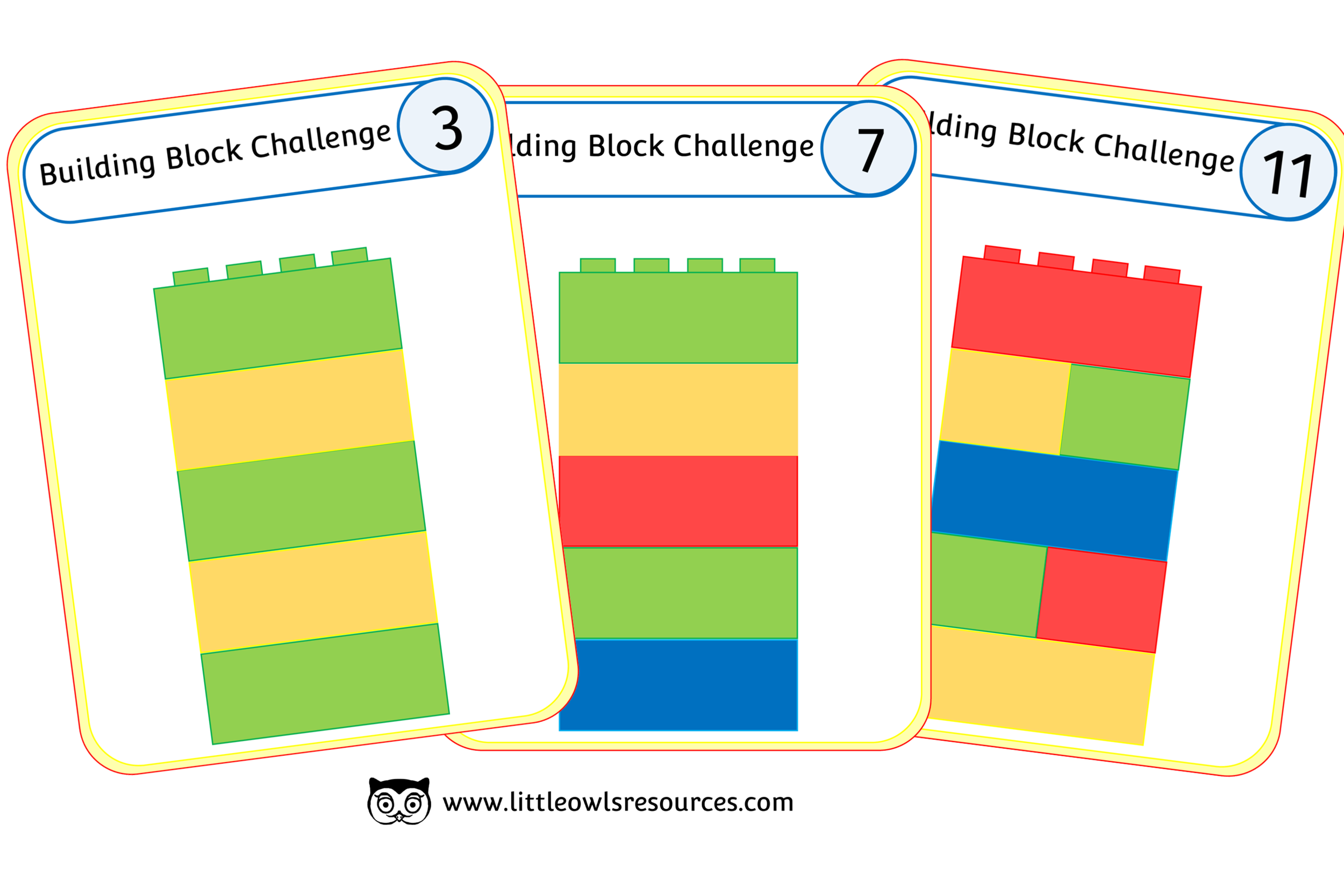 Building Blocks Pattern/Colour Challenge Cards