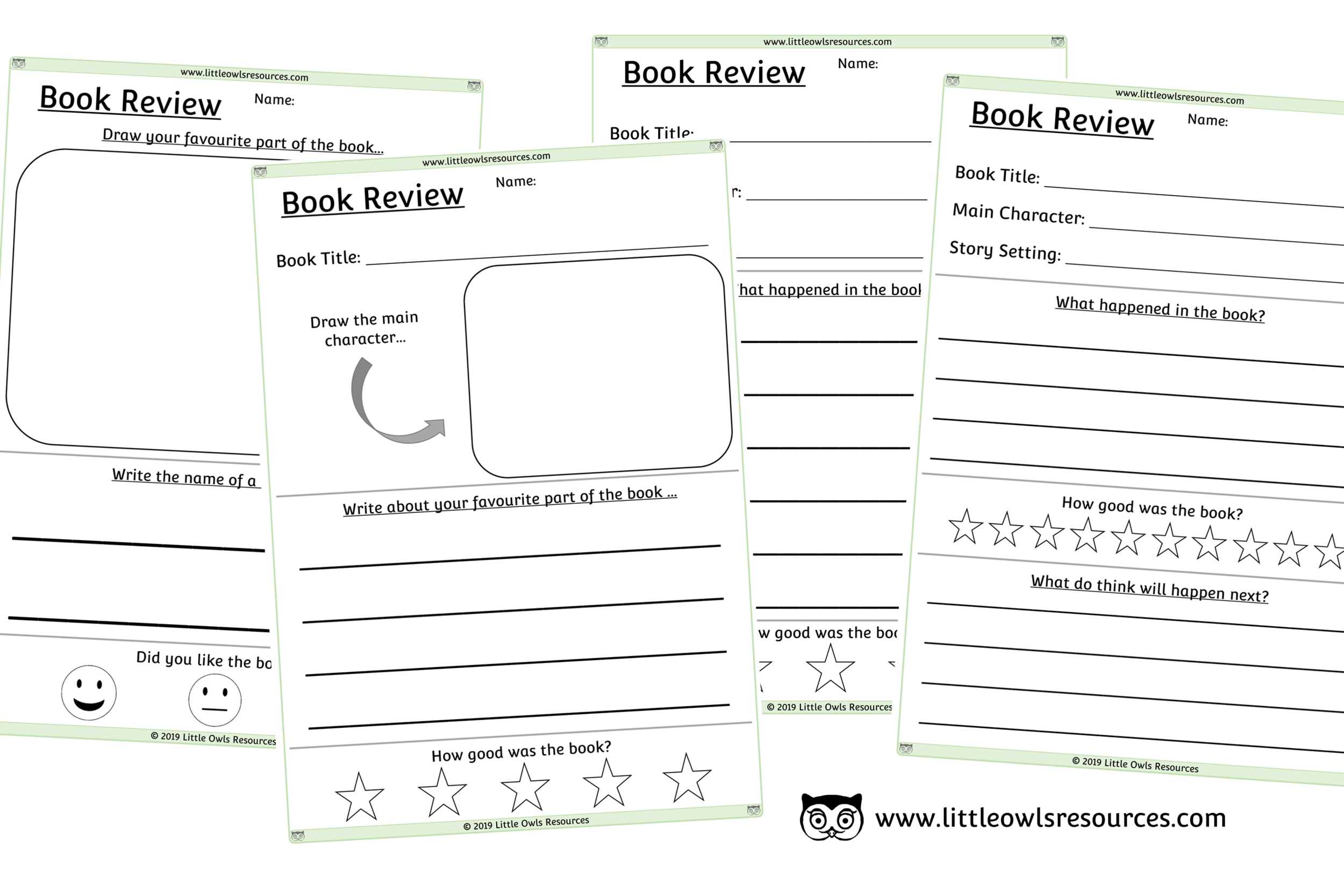 BOOK REVIEW SHEETS - DIFFERENTIATED