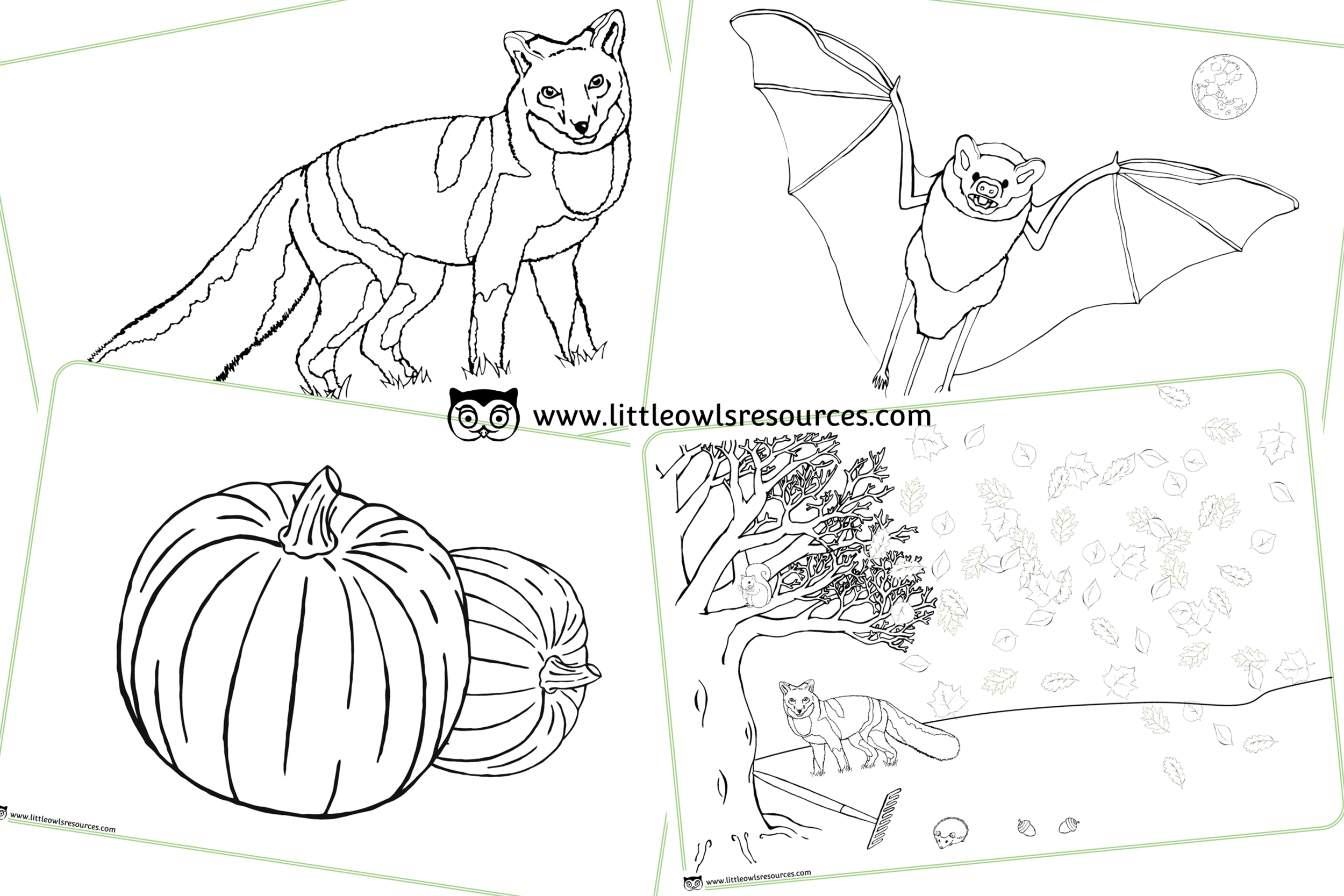 Autumn Theme/Topic/Season Colouring Pages/Activity