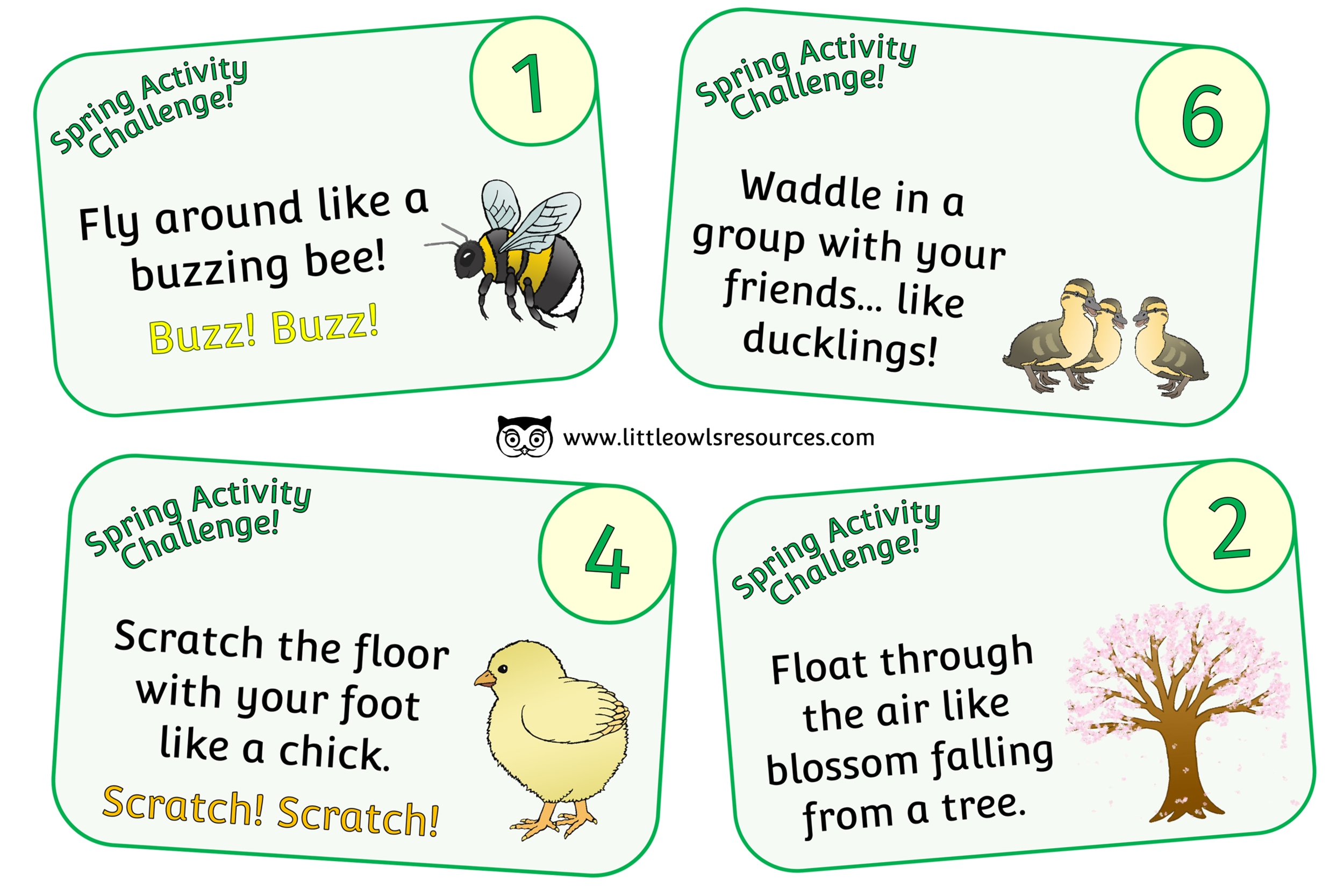 SPRING ACTIVITY/MOVEMENT CHALLENGE CARDS