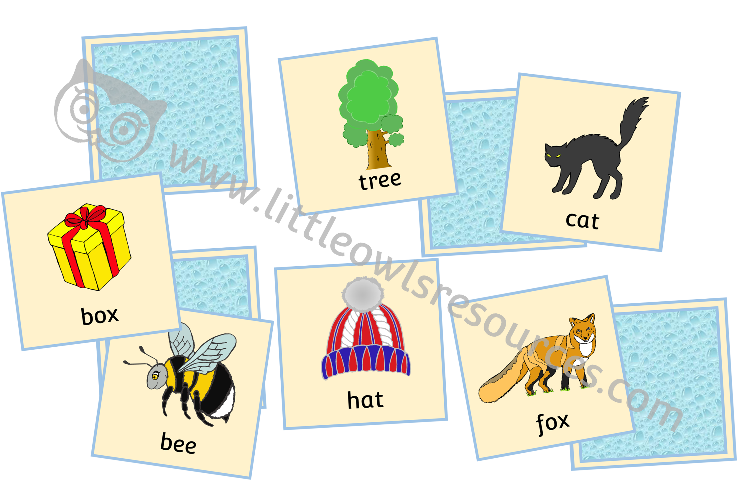 Rhyme Cards - pictures and words