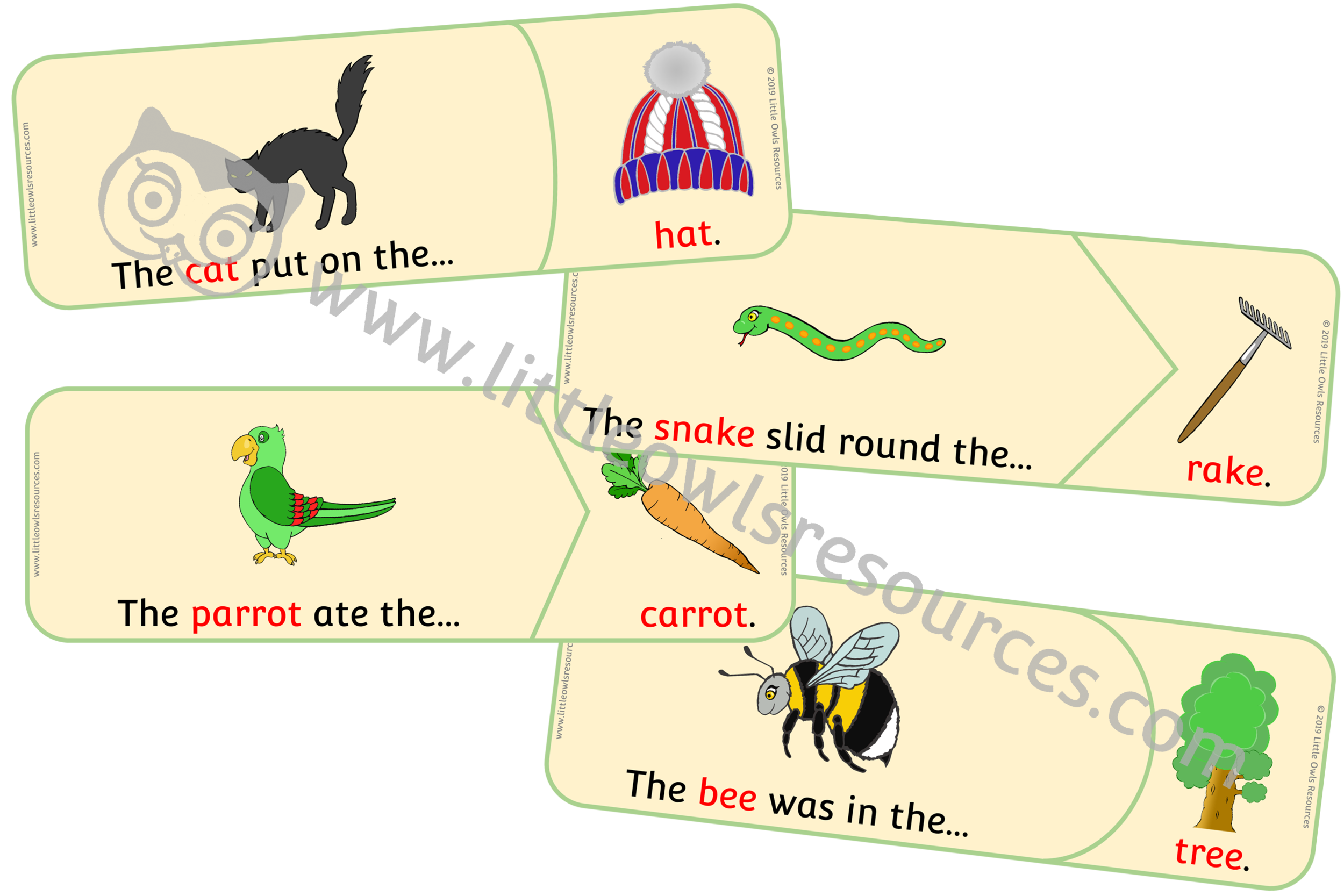 Rhyming Sentence Puzzles
