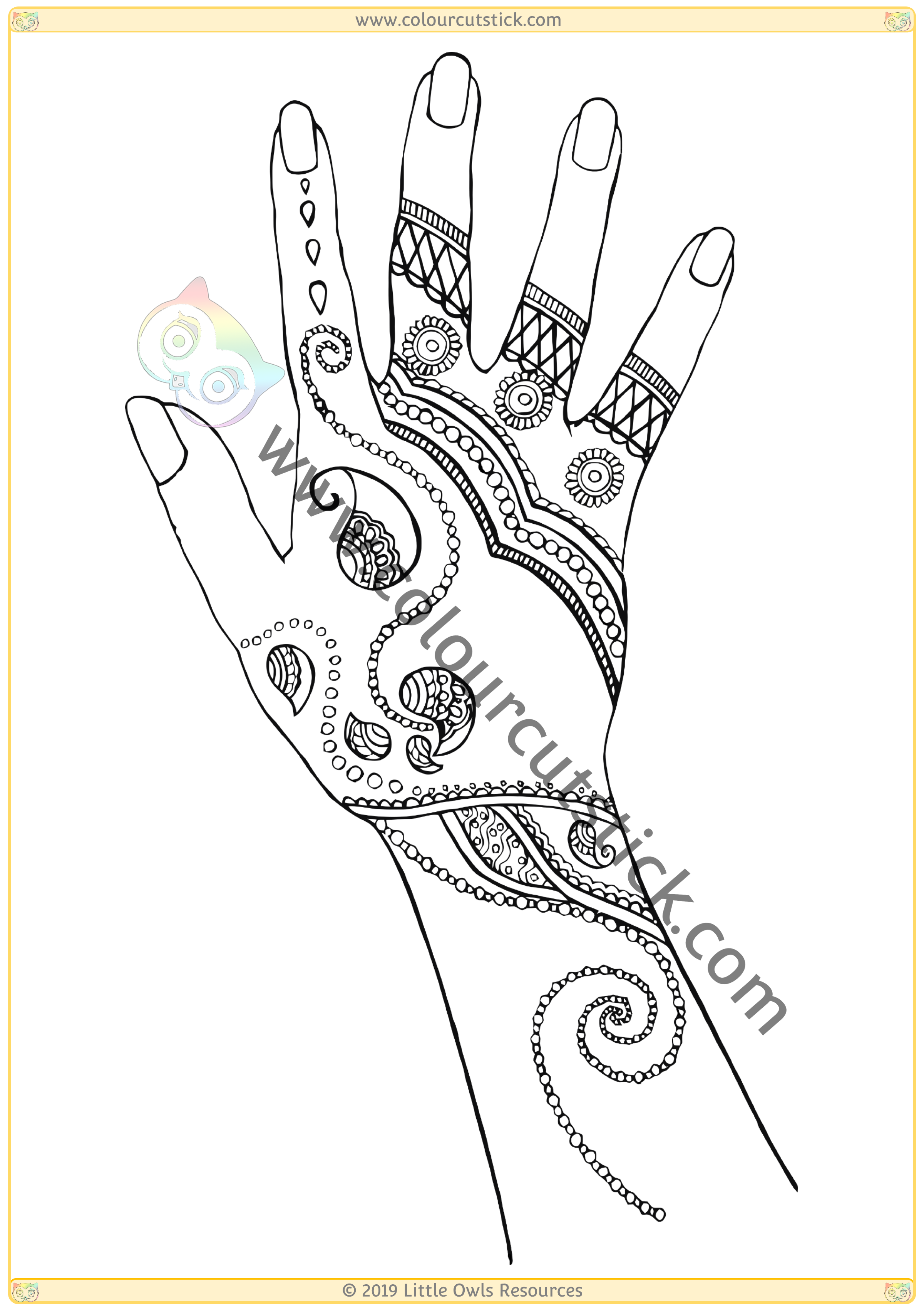 Click images below for a direct link to www.colourcutstick.com FREE Diwali colouring activities!